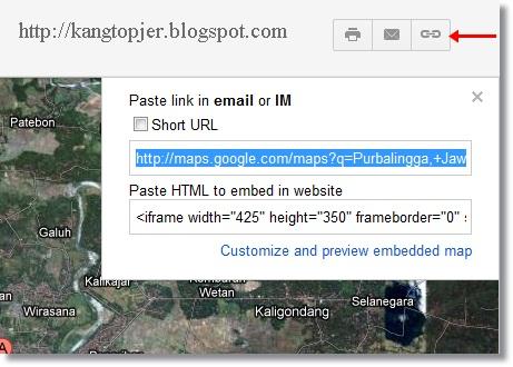 memasang peta di blog