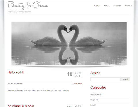 Beauty Clean Blogger Theme