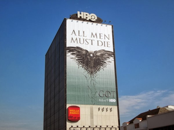 Giant Game of Thrones season 4 billboard