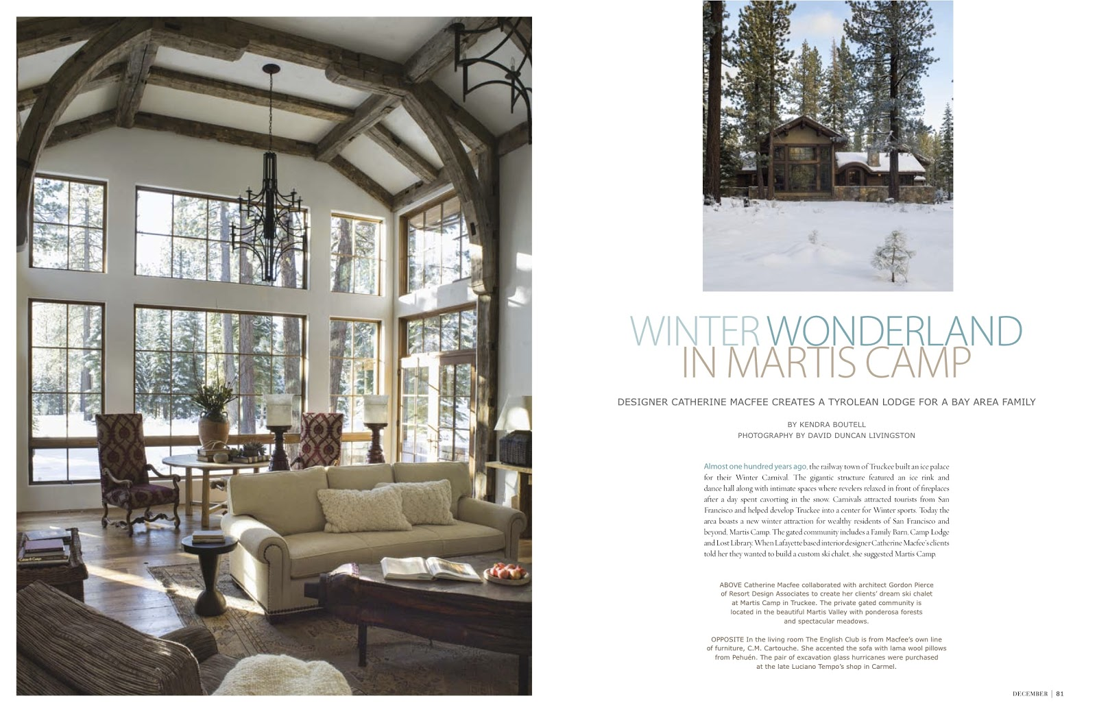 porcelains and peacocks: winter wonderland in martis camp