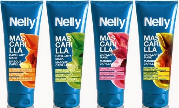 gama de mascarillas para el pelo Nelly