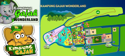 Peta Kampung Gajah wonderland