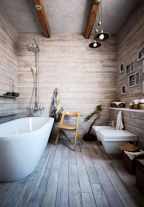 Wooden Effect Bathroom Tiles Norse White Design Blog