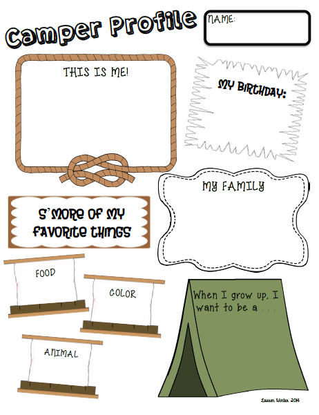 http://www.teacherspayteachers.com/Product/Beginning-of-the-Year-Camping-Themed-Activity-Pack-1278804