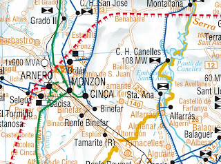 Mapa eléctrico Huesca