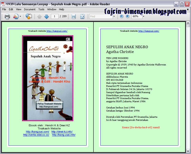E-Book, Sepuluh Anak Negro