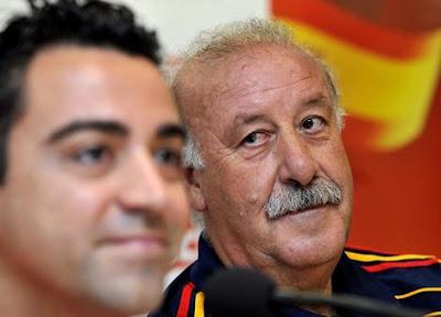 """Del Bosque: """"Xavi es más importante que el entrenador"""""""