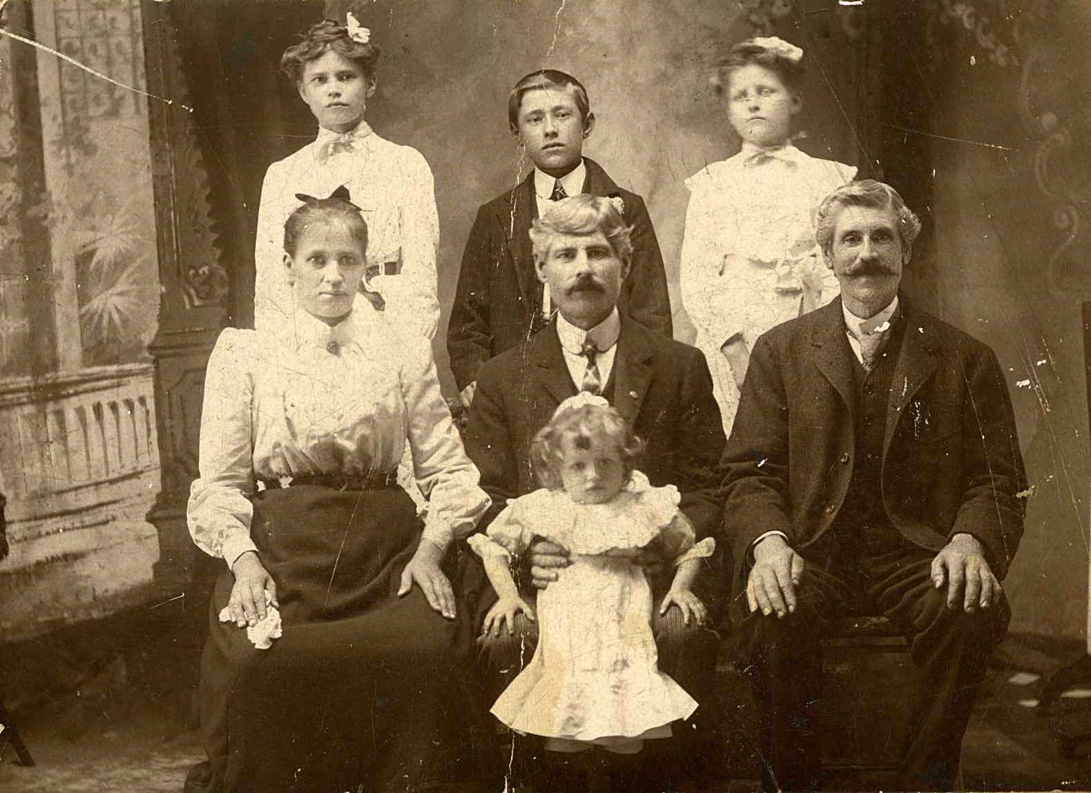 Frank and Helena Geffert & family