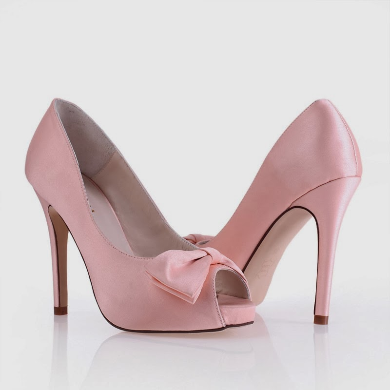 bridal style pink satin wedding shoes wallpaper