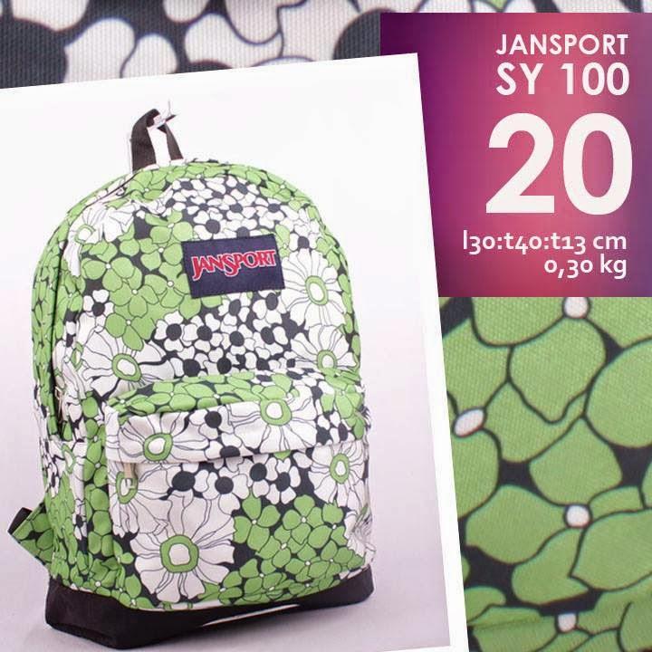 jual online tas ransel jansport murah motif terbaru  bunga/ flower
