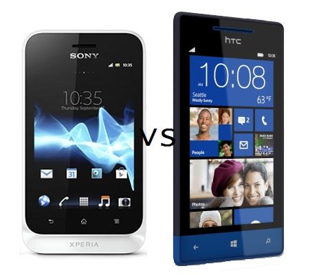 HTC Windows 8S vs. The Sony Xperia Tipo