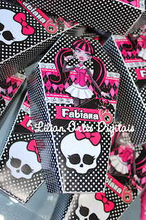 Guloseimas tema monster high