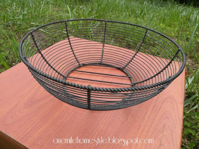 Black wire basket - before