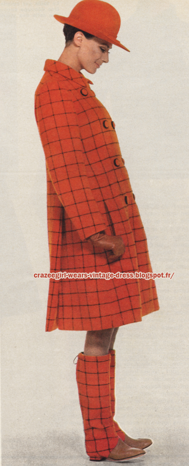 1966 plaid coat 1966 Lanvin 60s 1960