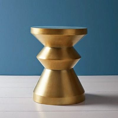 ... A Side Table Or A Stool. The Nolan Has Been Given A Luxurious Look,  With An Antiqued Brass Finish, Rather Than The Solid Wood Of The Eamesu0027  Numbers.