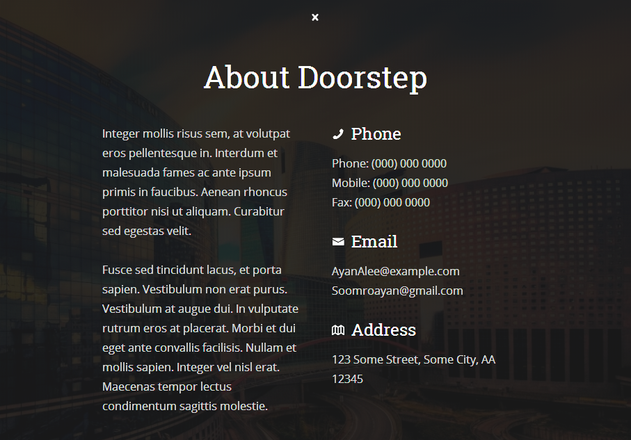 Doorstep Coming Soon Responsive Blogger Template