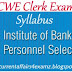Syllabus for IBPS CWE Clerk Exam 2013