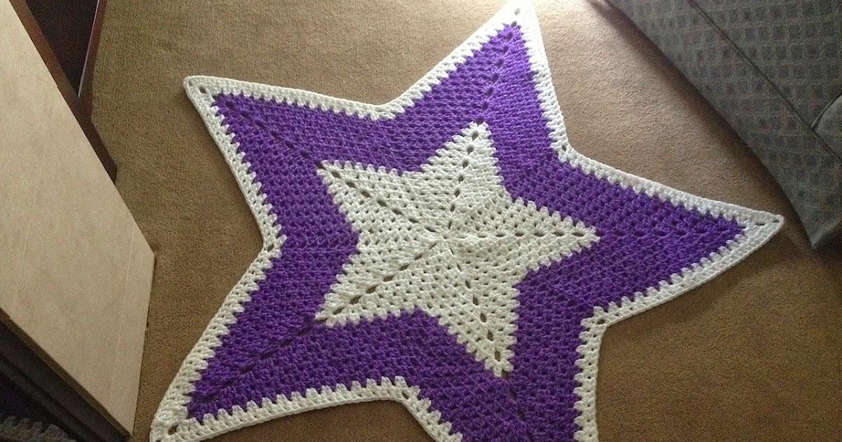 Illuminate Crochet Star Rug