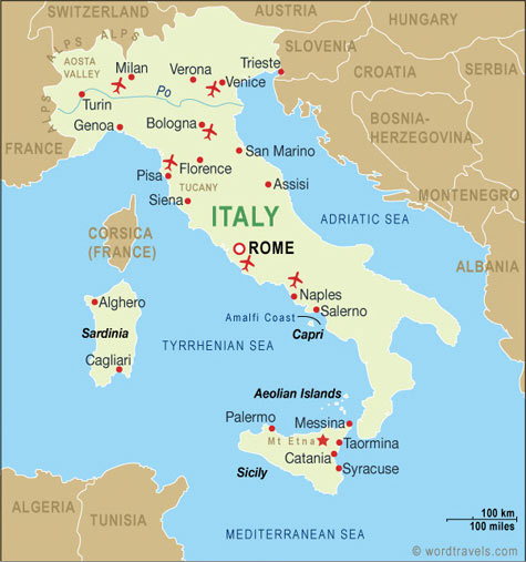 Mapa itálie země itálie oficiální název italská republika