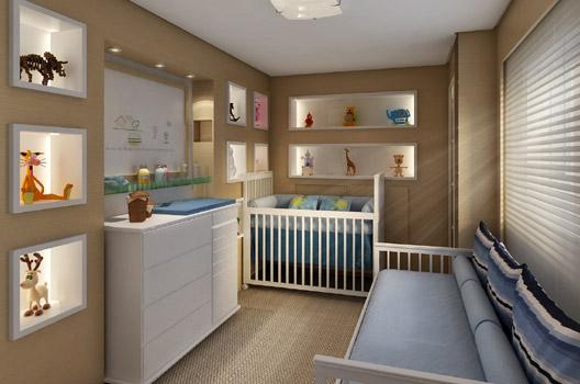 decoracao quarto bebe pequenos ambientes : decoracao quarto bebe pequenos ambientes:se torna funcional, com nichos, prateleiras e muito útil não é??