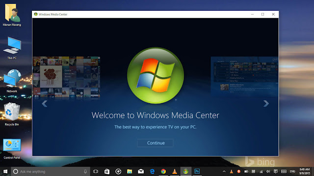 It's Back folks! Windows Media Center in action on the Windows 10.