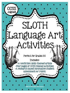 http://www.teacherspayteachers.com/Product/Nonfiction-Animal-Mini-Unit-Sloth-w-Research-Project-1012522