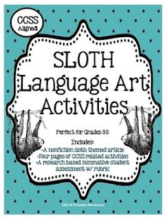 http://www.teacherspayteachers.com/Product/Nonfiction-Animal-Mini-Unit-Sloth-w-Research-Project-1012522