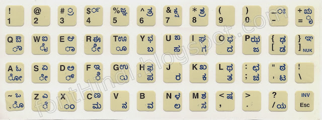 INscript Keyboard Layout for Kannada