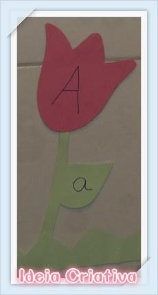 Jardim de Tulipas- Atividade Letras do Alfabeto