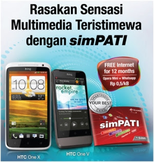 Spesifikasi Simpati Bundling HTC One X dan HTC One V