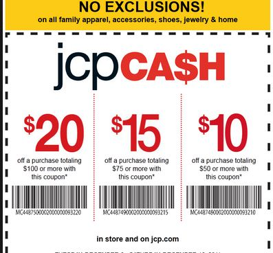 JCPenney Printable Coupons November 2013