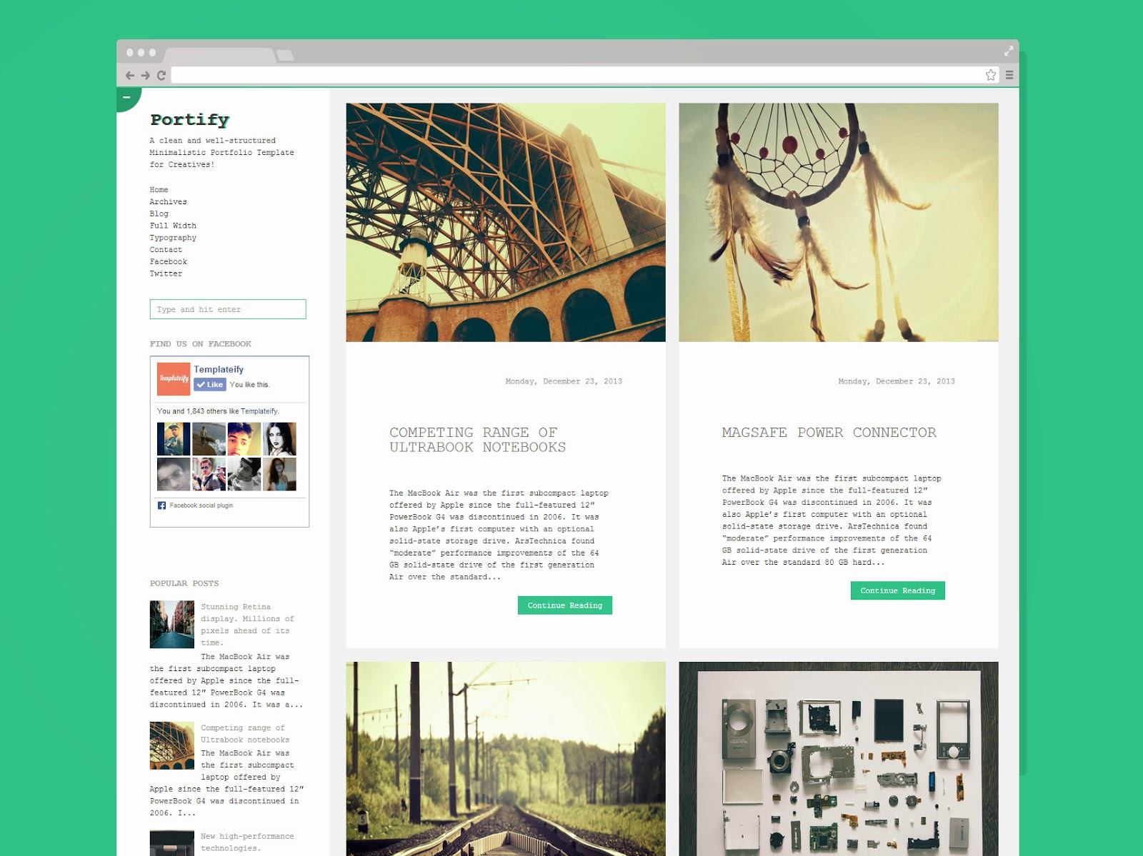 portify_responsive_blogger_template