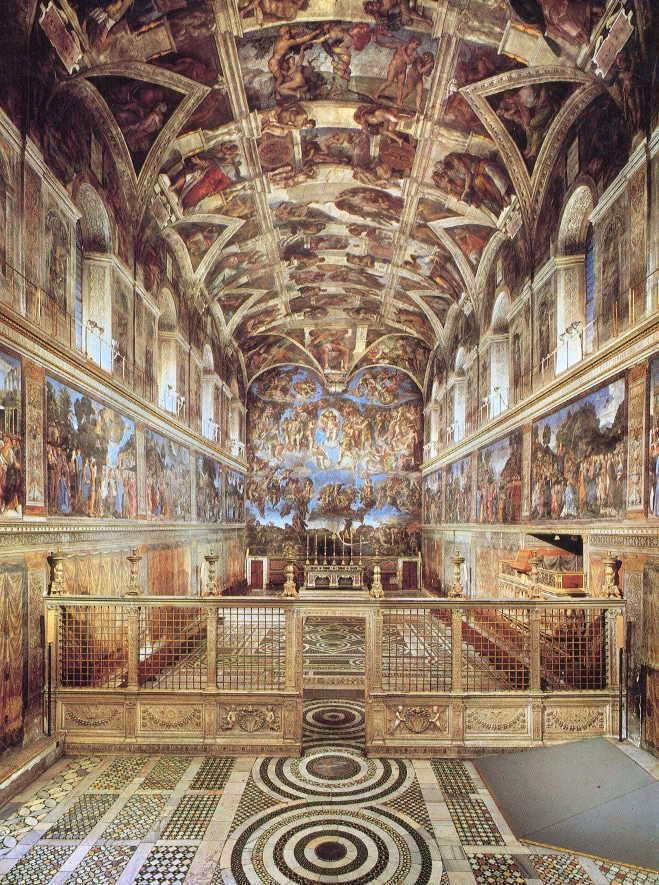 Les voyages de la salamandre musee du vatican - Plafond chapelle sixtine michel ange ...