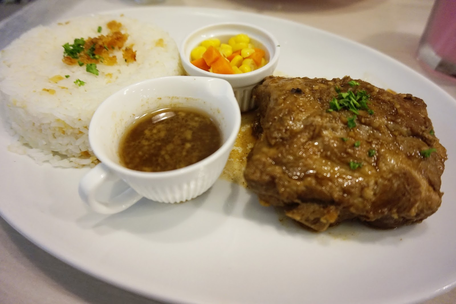 my little buttercup bakery and cafe's babyback adobo