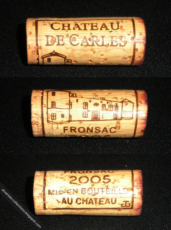 Wine cork: Chateau de Caries, Fronsac 2005