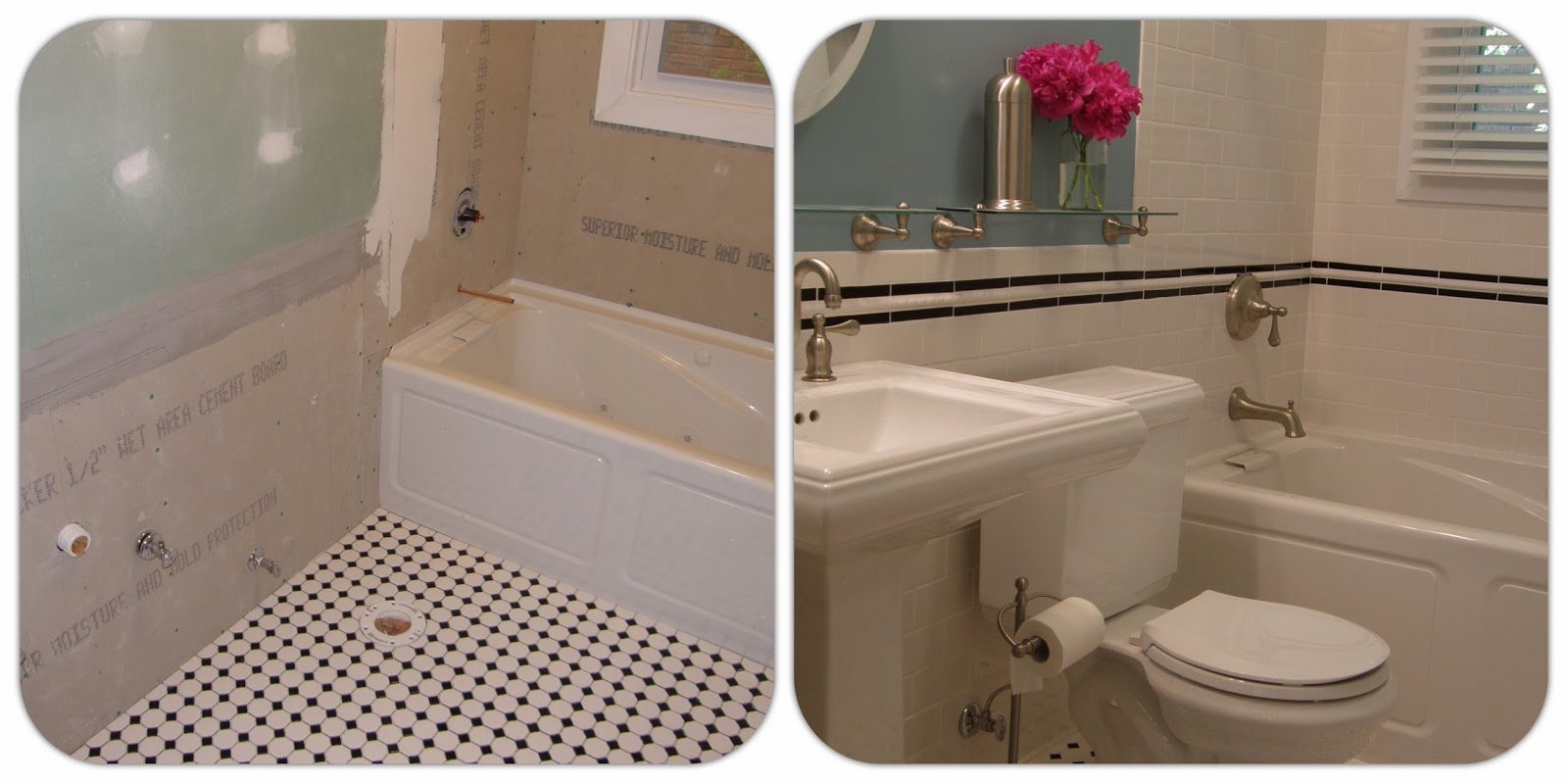 Hendersons home improvement llc porcelain or ceramic tile before and after dailygadgetfo Choice Image