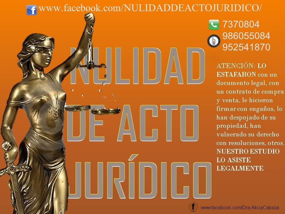 DEMANDA DE NULIDAD DE ACTO JURIDICO
