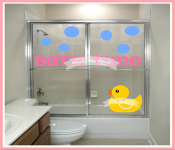 Rubber Duck Bath Time Shower  Decal