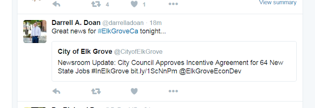 City of Elk Grove Immediately Hypes Aid Package to State Agency; Pre-wired For Approval?