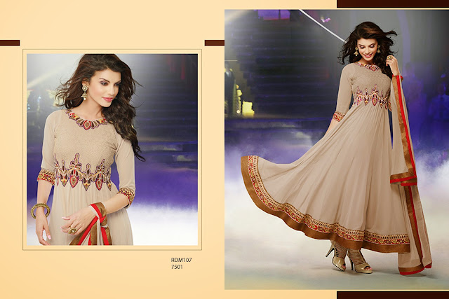 New Designer Readymade Neck Embroidered Long Anarkali Suit