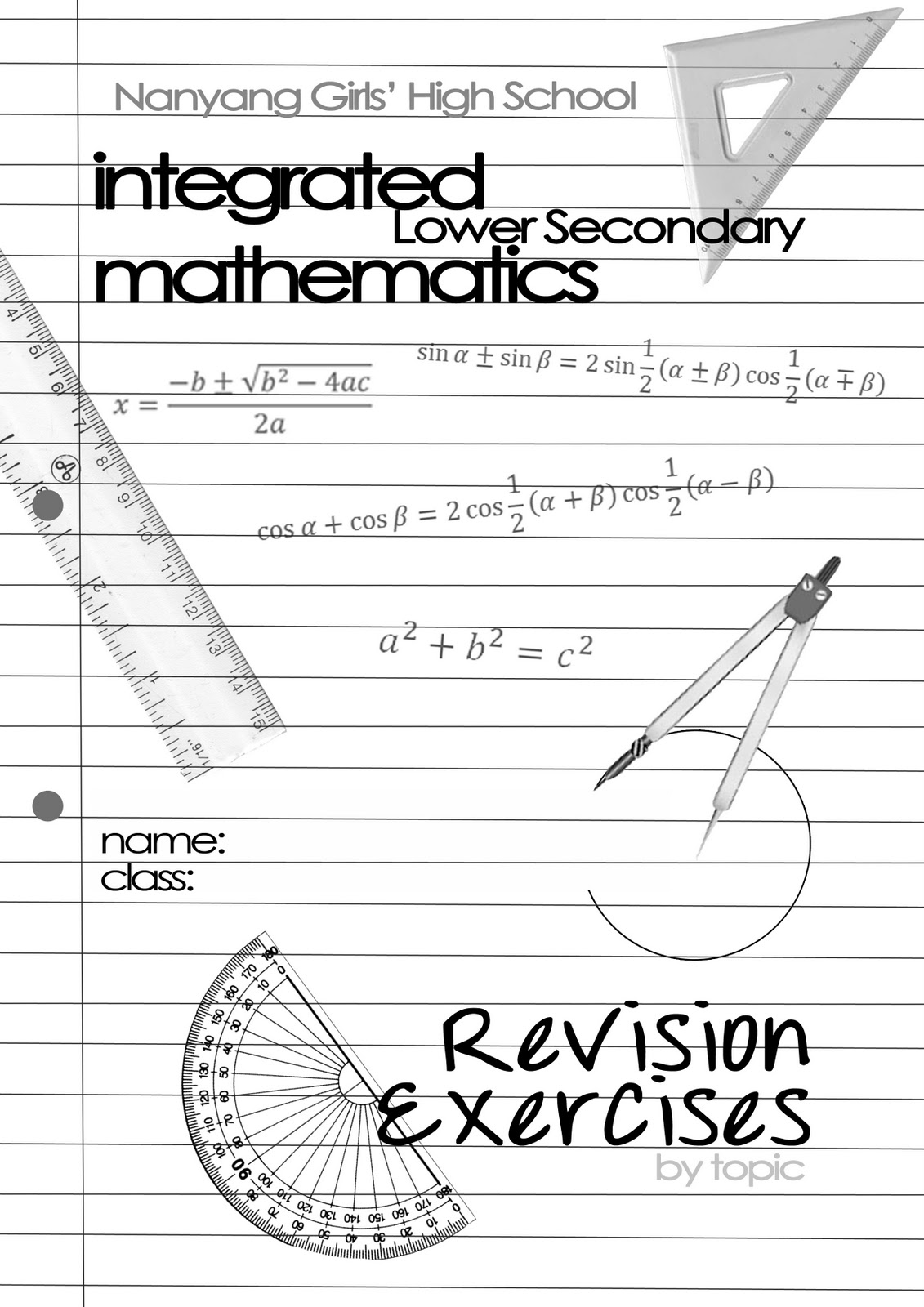 Maths Book Cover Ideas ~ Visualistic math revision booklet cover design