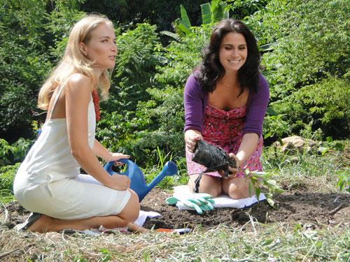 ipe de jardim botânico:mãe de um menino e de duas gêmeas recém nascidas giovanna também