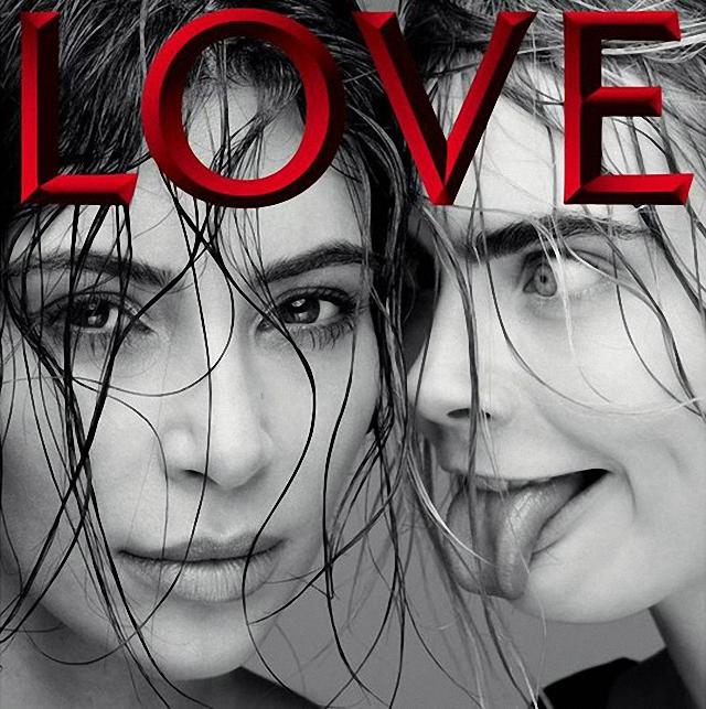 Cara Delevingne lame la cara de Kim Kardashian
