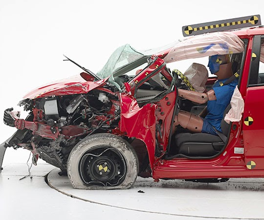2013 Honda Fit IIHS crash test