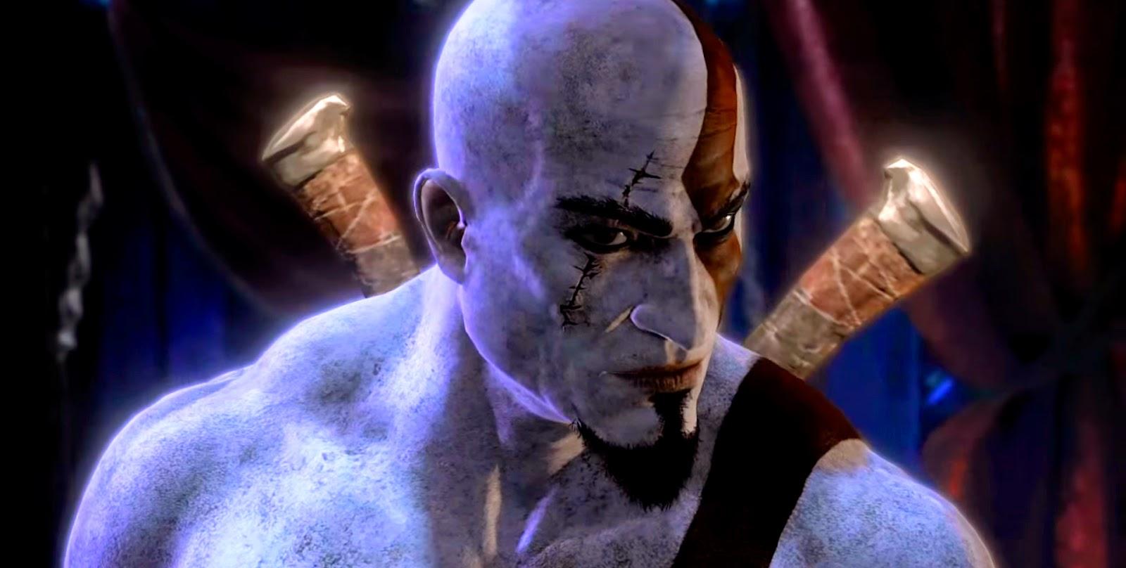 Kratos flipando en una de las ilusiones de las furias.