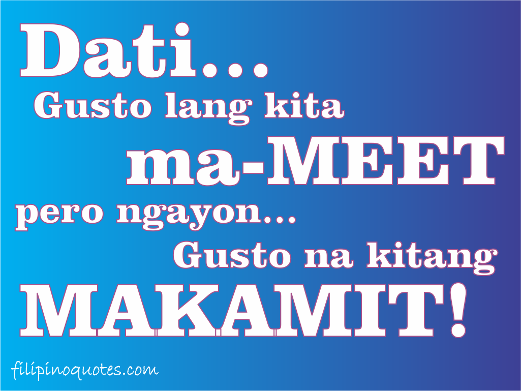 Tagalog Quotes About Friendship Sweet love quotes