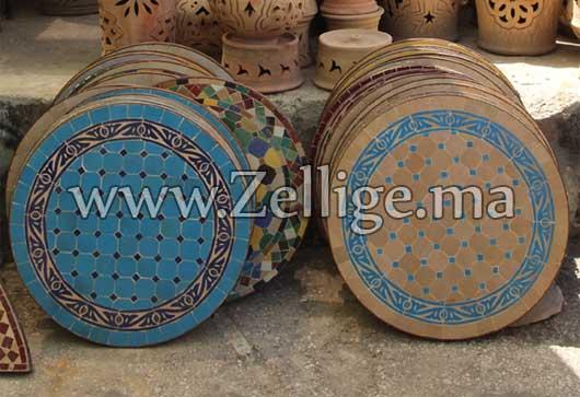 collection des tables en mosa que zellige marocaine des tables en mosa que zellige marocaine. Black Bedroom Furniture Sets. Home Design Ideas