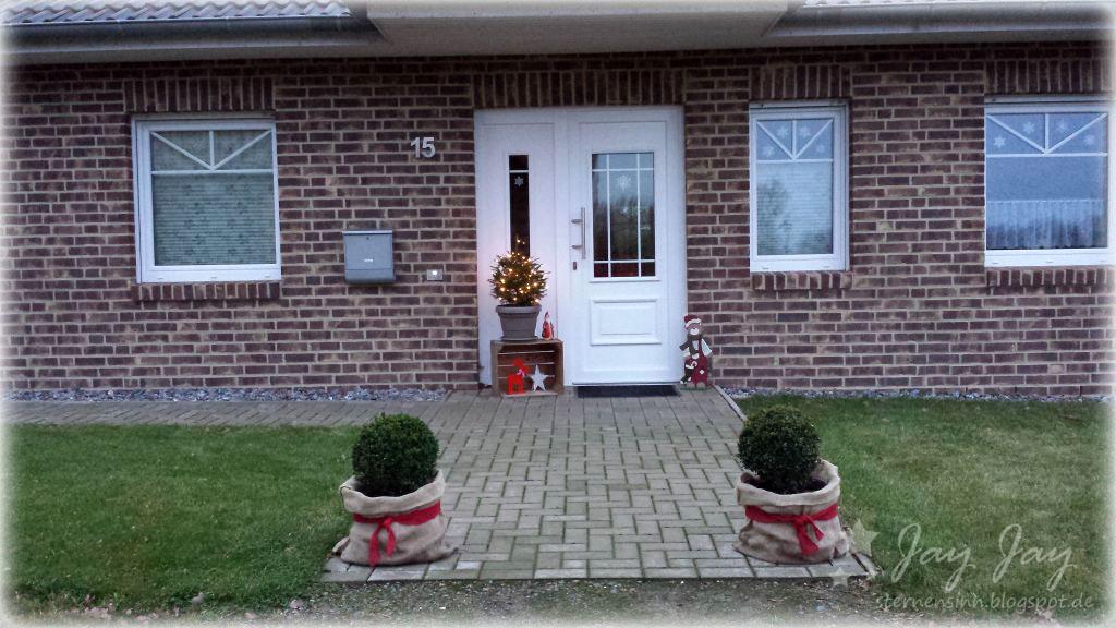 deko weihnachten vor haust r. Black Bedroom Furniture Sets. Home Design Ideas