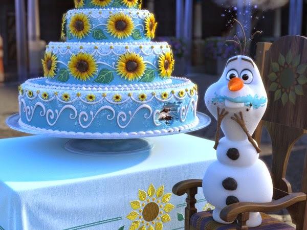 Otra imagen de la película Frozen Fever el nuevo cortometraje de Disney.