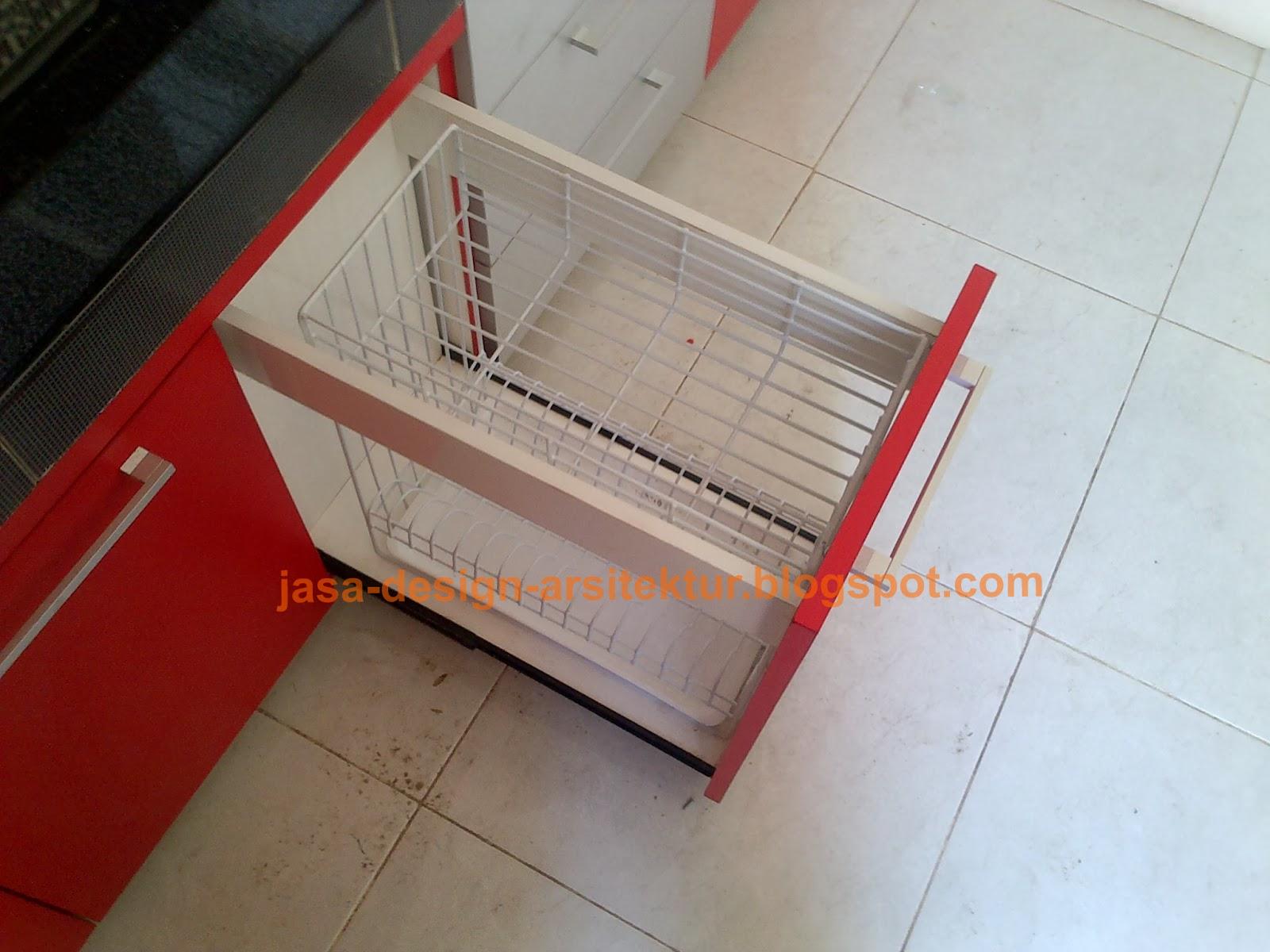 Kontraktor interior surabaya sidoarjo kitchen set warna merah for Kitchen set dibawah 5 juta